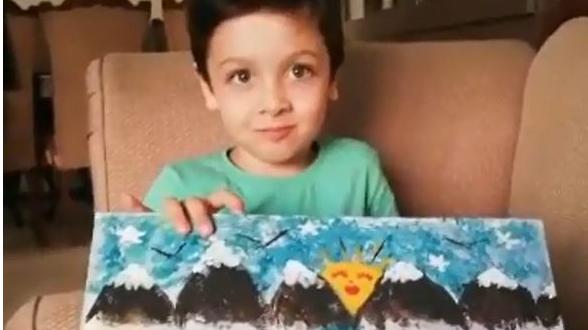 نقاشی کودکانه ولادت حضرت علی